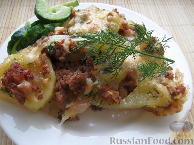 Рецепт Картофельная запеканка с фаршем на скорую руку