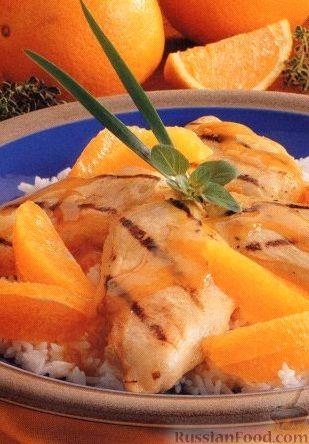 Рецепт Куриное филе на гриле с медовым соусом