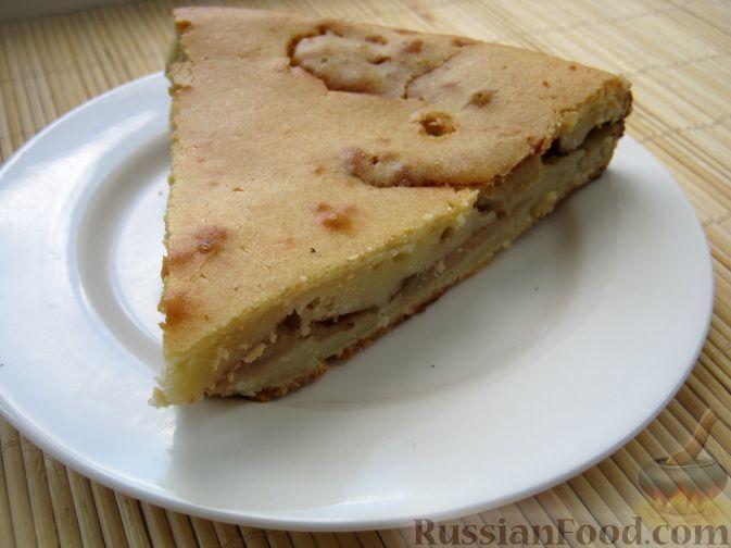 Рецепт Простой яблочный пирог на молоке