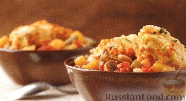 Рецепт Тыквенное рагу с пампушками (в медленноварке)