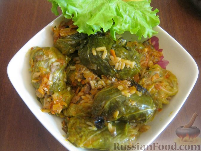 Рецепт Голубцы из молодой капусты с грибами