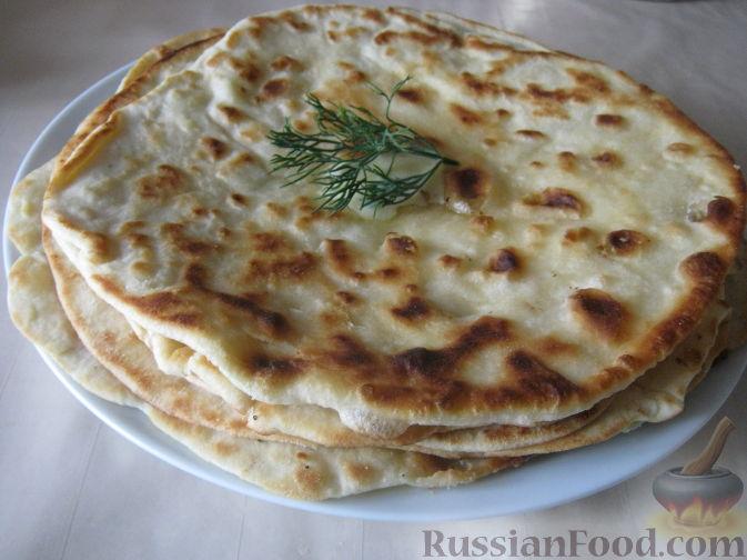 Рецепт Лепешки, жаренные без дрожжей (казахская кухня)
