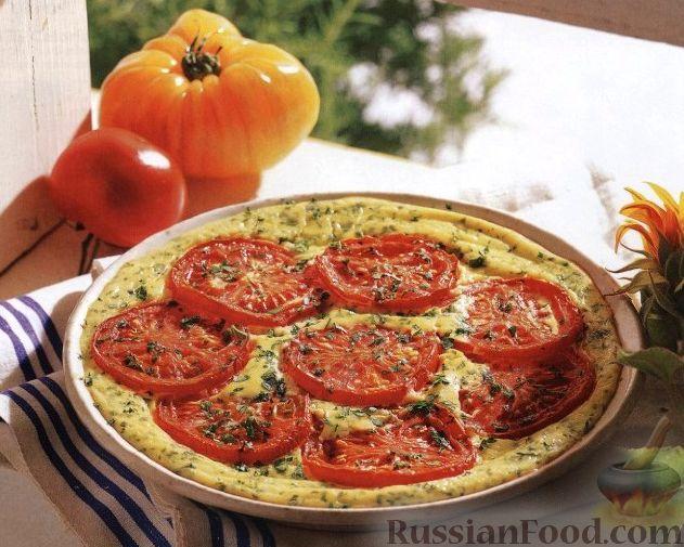 Рецепт Омлет с сыром и помидорами