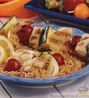 Рецепт Шашлыки из куриного филе и овощей