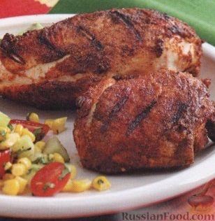 Рецепт Пикантная курица на гриле