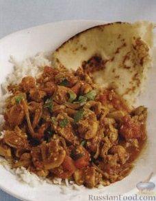 Рецепт Курица карри с луком и имбирем