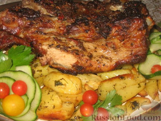 Рецепт Запеченная маринованная свиная грудинка