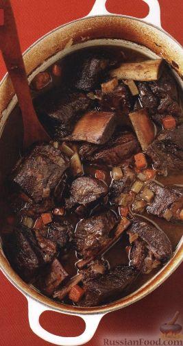 Рецепт Тушеные говяжьи ребрышки