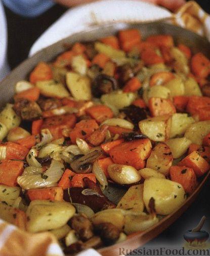Рецепт Овощи, запеченные в духовке