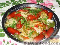Фото к рецепту: Картофельное рагу с колбасой