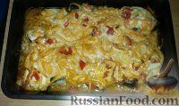 Фото к рецепту: Горбуша, запечённая с помидорами