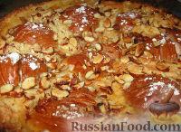 Фото к рецепту: Грушевый пирог из песочного теста с заварным кремом и миндалем