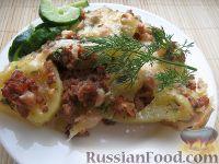 Фото к рецепту: Картофельная запеканка с фаршем на скорую руку