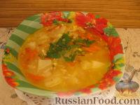 Фото к рецепту: Суп рисовый с яйцом