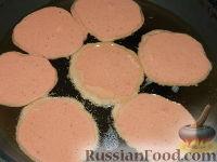 Фото приготовления рецепта: Нежные печеночные оладьи - шаг №15