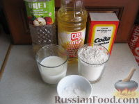 Фото приготовления рецепта: Хлебные лепешки - шаг №1