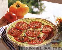 Фото к рецепту: Омлет с сыром и помидорами