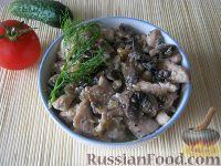 Фото к рецепту: Куриное филе со сливками и грибами