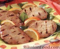 Фото к рецепту: Куриное филе в апельсиновом маринаде (на гриле)