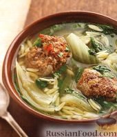 Фото к рецепту: Итальянский свадебный суп