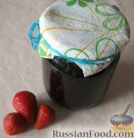 Фото к рецепту: Клубничный джем с ванилью