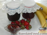 Фото к рецепту: Клубнично-банановое варенье