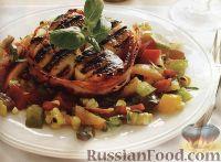 Фото к рецепту: Морские гребешки с кукурузной сальсой