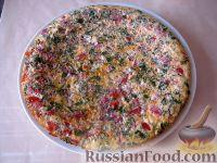 Фото к рецепту: Вкусный сложный омлет