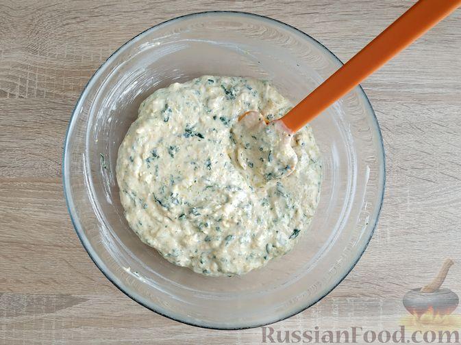 Фото приготовления рецепта: Тыквенная запеканка на сковороде - шаг №6