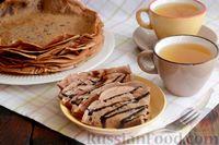Фото к рецепту: Шоколадные блины на сыворотке