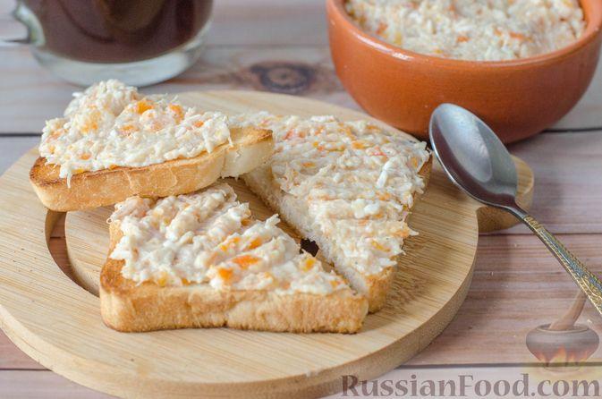 Фото приготовления рецепта: Намазка для бутербродов, из курицы с морковью и плавленым сыром - шаг №12