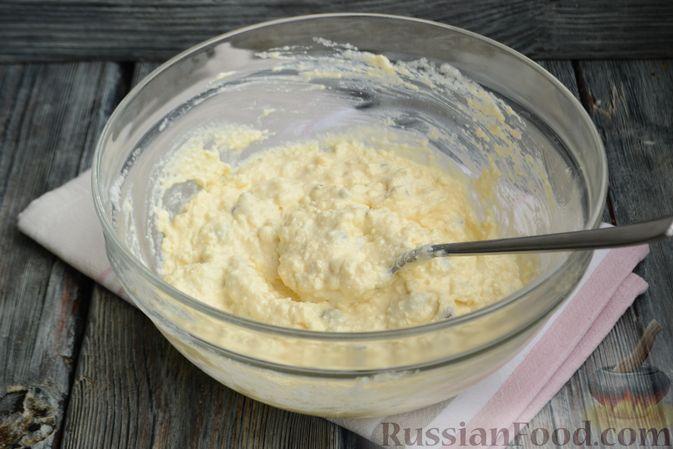 Фото приготовления рецепта: Творожная запеканка без сахара и муки - шаг №7
