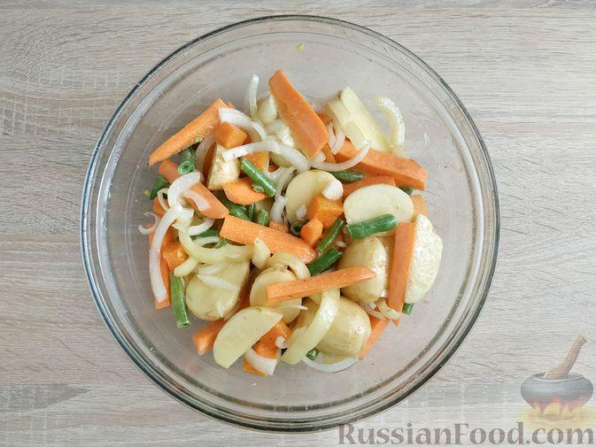 Фото приготовления рецепта: Куриное филе, запечённое с овощами - шаг №9