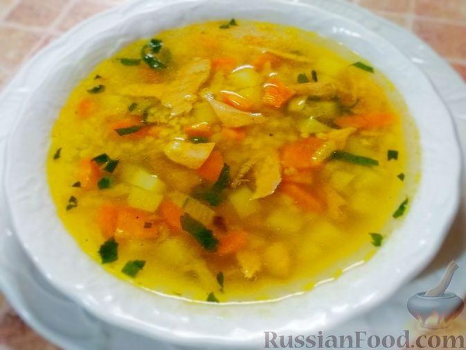 Фото к рецепту: Рыбный суп с пшеном