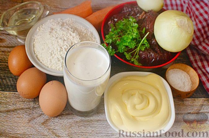 Фото приготовления рецепта: Печёночный торт с морковью и орехами - шаг №1
