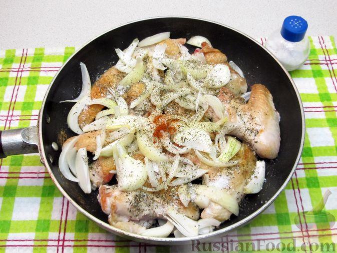 Фото приготовления рецепта: Картофельный крем-суп с курицей и макаронами - шаг №10