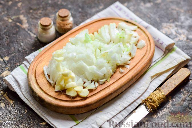 Фото приготовления рецепта: Рисовый суп со сливками, куриным филе и шпинатом - шаг №2