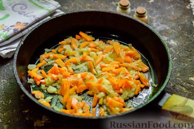 Фото приготовления рецепта: Рисовый суп со сливками, куриным филе и шпинатом - шаг №4