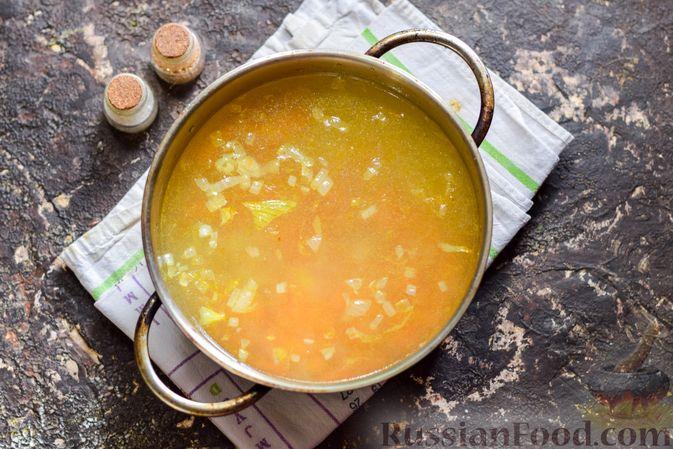 Фото приготовления рецепта: Рисовый суп со сливками, куриным филе и шпинатом - шаг №6