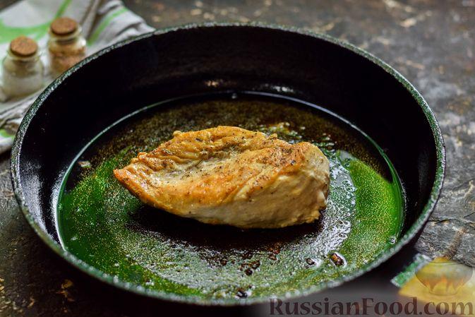 Фото приготовления рецепта: Рисовый суп со сливками, куриным филе и шпинатом - шаг №8