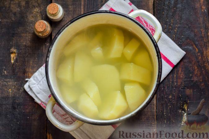 Фото приготовления рецепта: Рыбная запеканка с картофелем и шпинатом - шаг №2