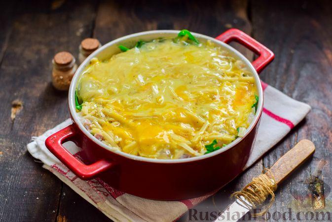 Фото приготовления рецепта: Рыбная запеканка с картофелем и шпинатом - шаг №13