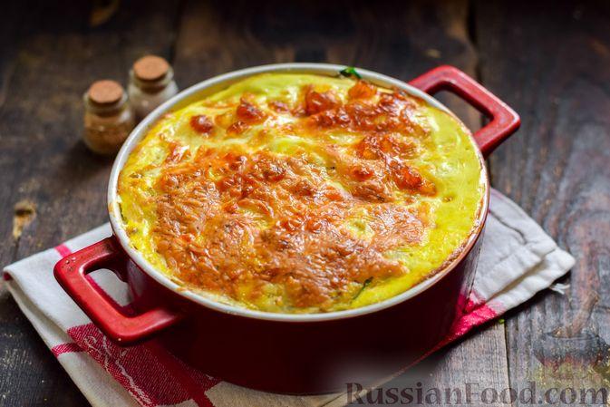 Фото приготовления рецепта: Рыбная запеканка с картофелем и шпинатом - шаг №14