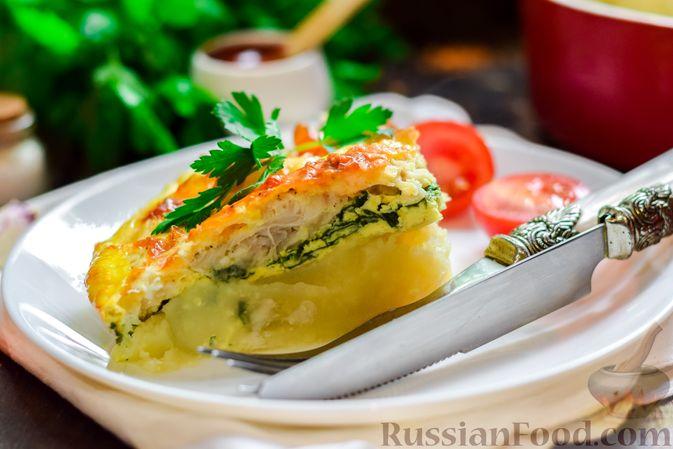 Фото приготовления рецепта: Рыбная запеканка с картофелем и шпинатом - шаг №16