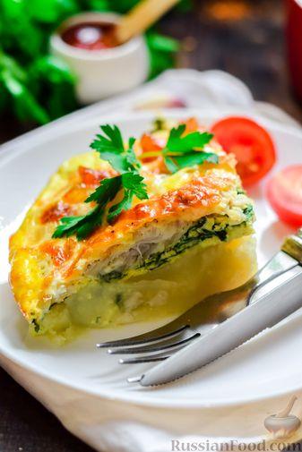 Фото приготовления рецепта: Рыбная запеканка с картофелем и шпинатом - шаг №17