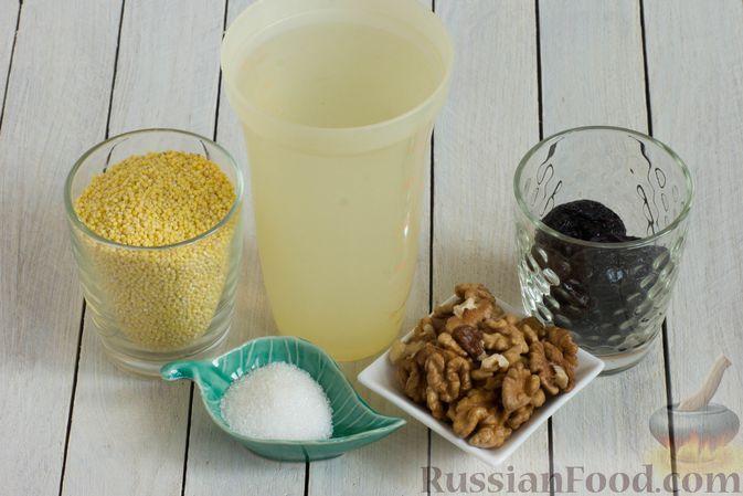 Фото приготовления рецепта: Пшённая каша на воде, с орехами и черносливом - шаг №1