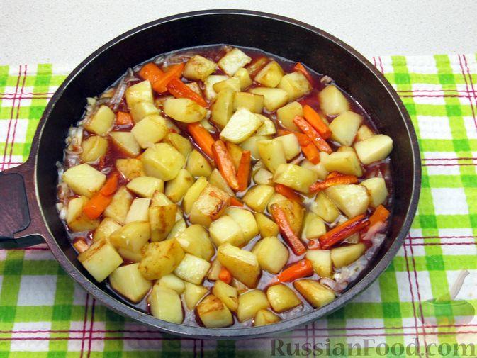Фото приготовления рецепта: Ленивые ватрушки в хлебе - шаг №5