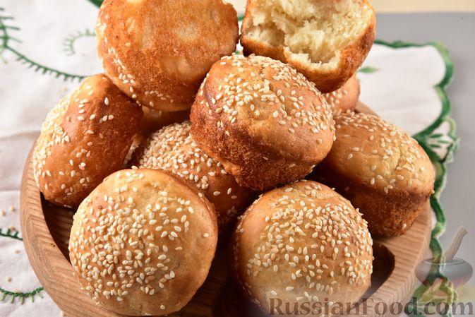 Фото приготовления рецепта: Постные дрожжевые булочки из картофельного теста - шаг №12