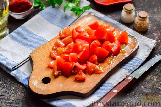 Фото приготовления рецепта: Суп с фаршем, капустой и рисом - шаг №4