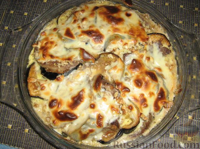 Рецепт Язык, запеченный с баклажанами